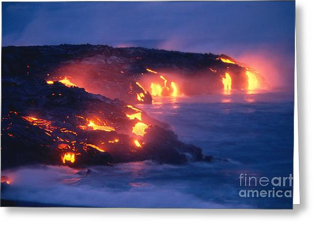 Lava Flow Greeting Card by Peter French - Printscapes