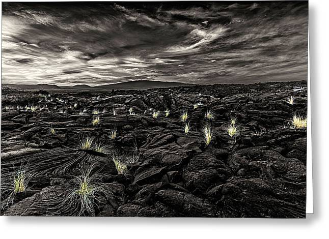 Lava Flow Greeting Card by Thomas Ashcraft