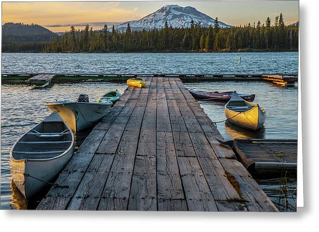 Lava Lake Evening  Greeting Card