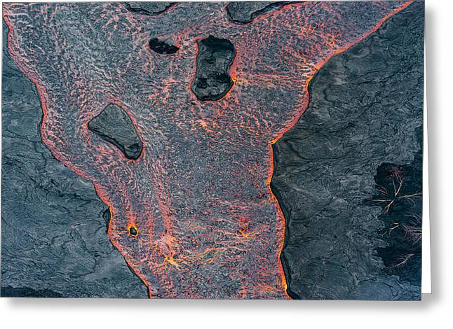 Lava River Texture Greeting Card