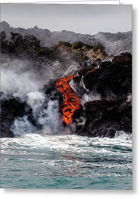 Lava Snake Greeting Card