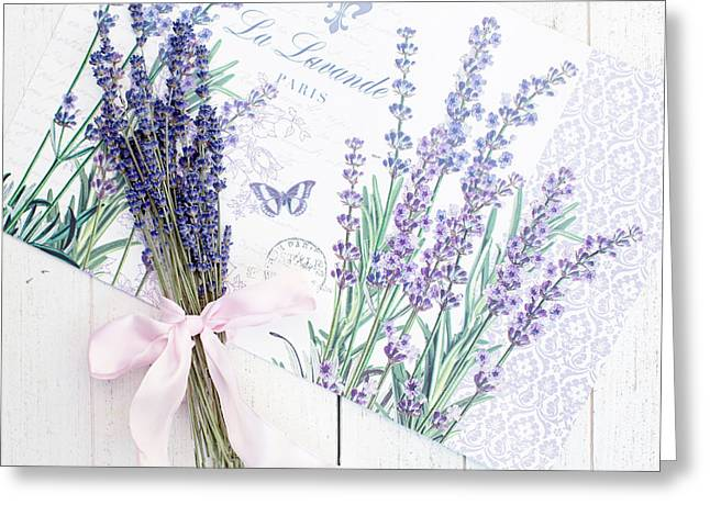 Greeting Card featuring the photograph Lavende by Rebecca Cozart