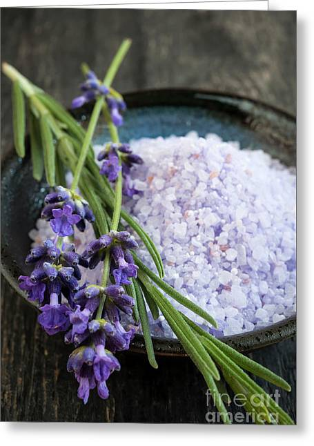 Lavender Bath Salts Greeting Card