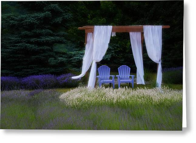 Lavender Breeze Greeting Card by LuAnn Griffin