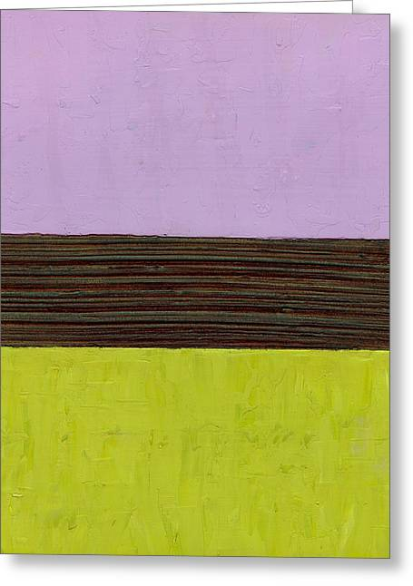 Olive Green Greeting Cards - Lavender Brown Olive Greeting Card by Michelle Calkins