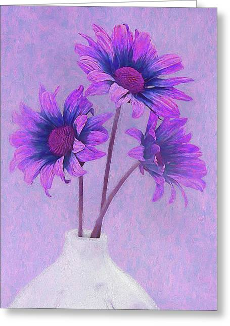 Lavender Chrysanthemum Still Life Greeting Card