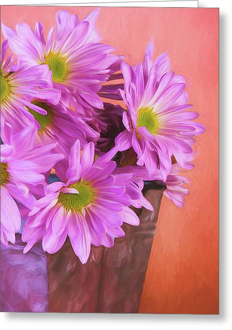 Lavender Daisies Greeting Card
