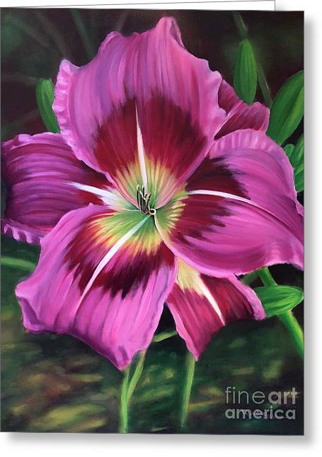 Lavender Daylily Greeting Card