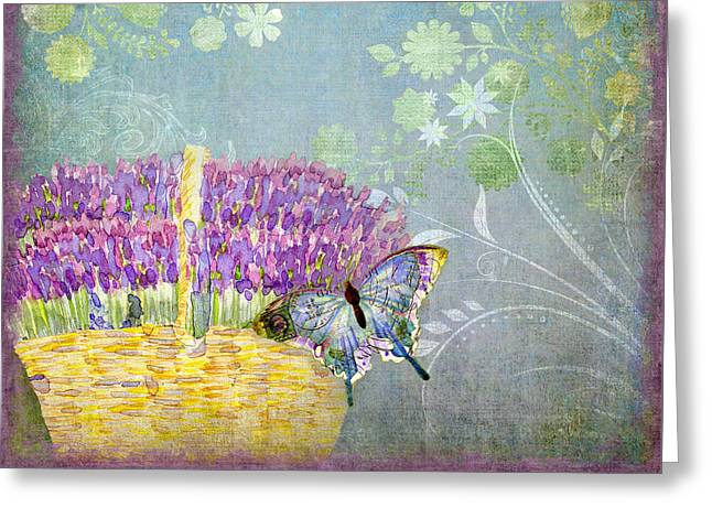 Lavender Dreams Greeting Card by Audrey Jeanne Roberts
