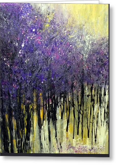 Greeting Card featuring the painting Lavender Dreams by Priti Lathia