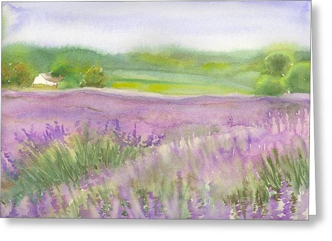 Lavender Field In Italy Greeting Card by Yolanda Koh