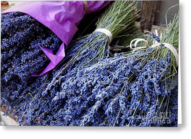 Lavender For Sale Greeting Card by Lainie Wrightson
