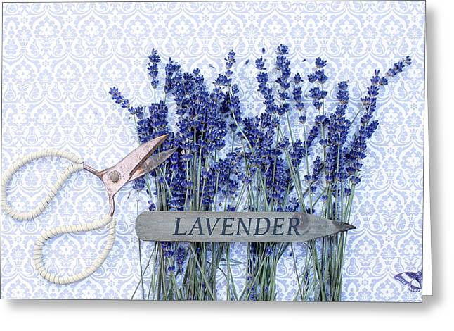 Greeting Card featuring the photograph Lavender Garden by Rebecca Cozart