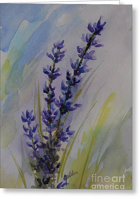 Lavender Greeting Card by Gretchen Bjornson