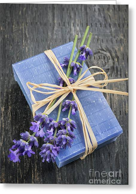 Lavender Handmade Soap Greeting Card