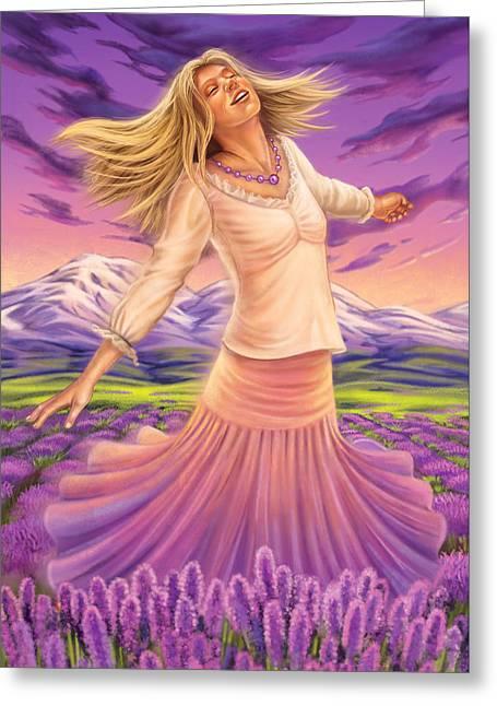 Lavender - Heal Through Joy Greeting Card