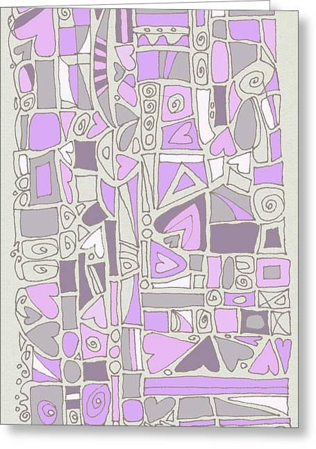 Lavender Hearts Greeting Card by Linda Kay Thomas