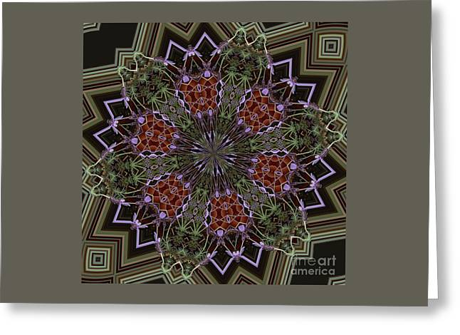 Lavender Mandala 1 Greeting Card