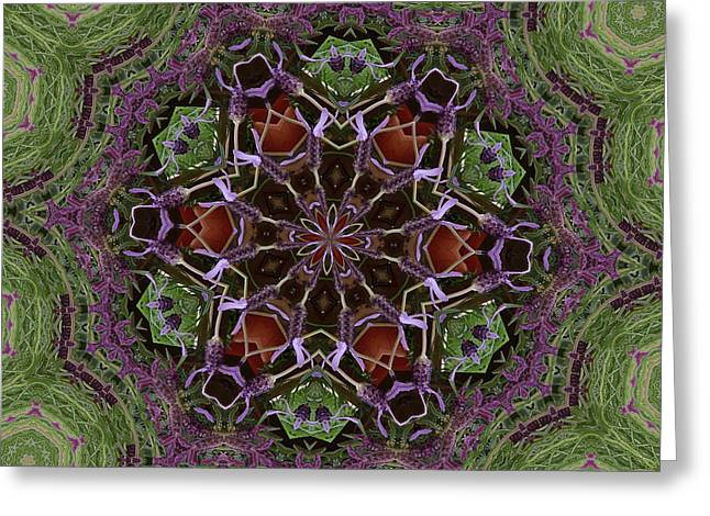 Lavender Mandala 2 Greeting Card