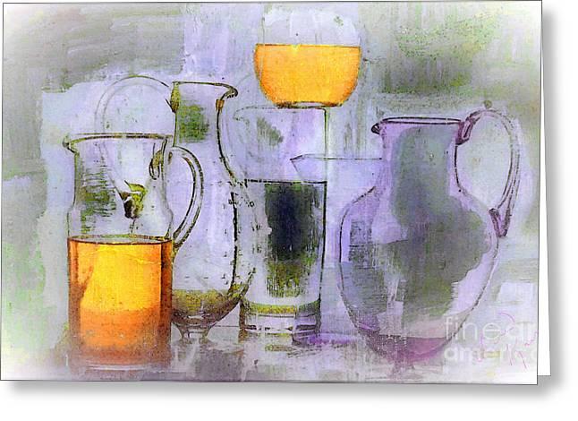 Lavender Orange Glass Greeting Card