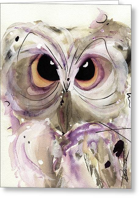 Lavender Owl Greeting Card
