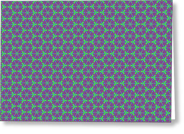 Greeting Card featuring the digital art Lavender Pinwheels by Becky Herrera
