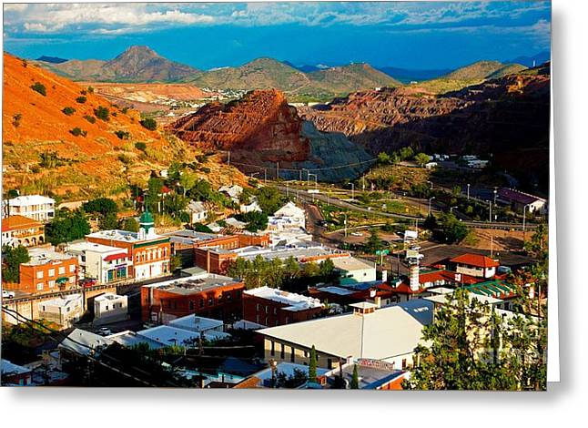 Lavender Pit In Historic Bisbee Arizona  Greeting Card