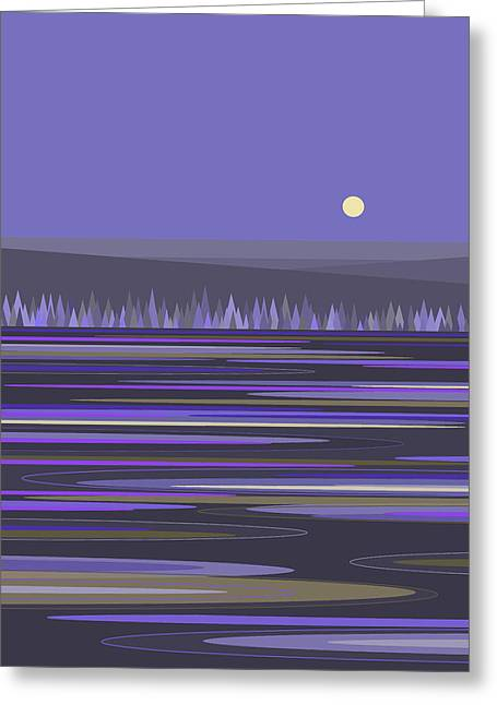 Greeting Card featuring the digital art Lavender Reflections by Val Arie