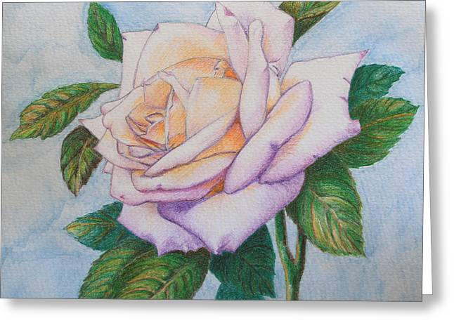 Lavender Rose Greeting Card by Marna Edwards Flavell