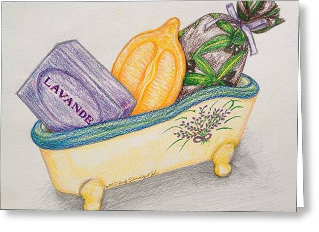 Lavender Soap In Provence Greeting Card