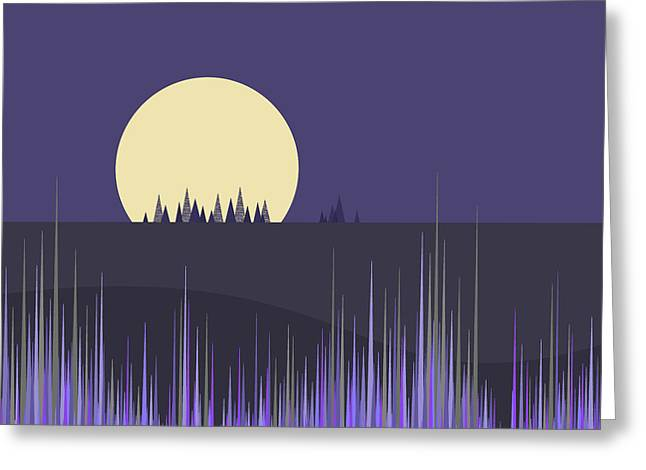 Greeting Card featuring the digital art Lavender Twilight by Val Arie