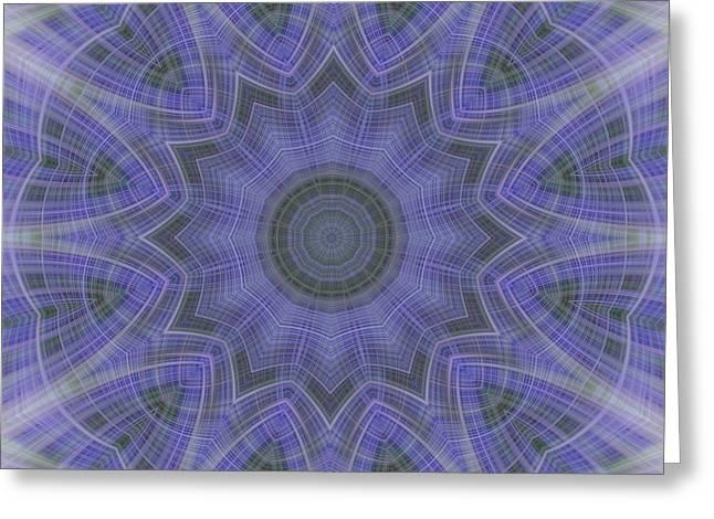 Lavender Twirl Kaleido Greeting Card