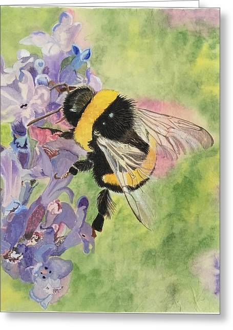 Lavender Visitor Greeting Card