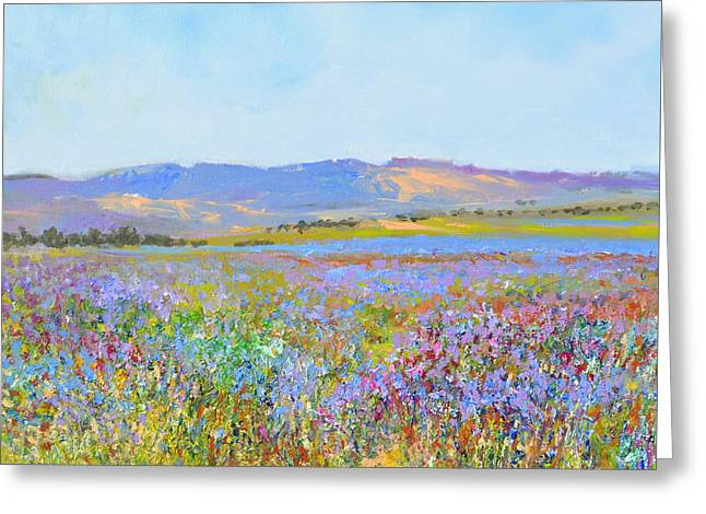 lavenderfields in the Provence Greeting Card by Wim Wege van de