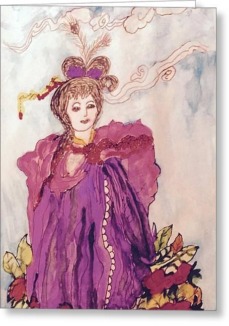 Lavish Lady Greeting Card by Kenlynn Schroeder