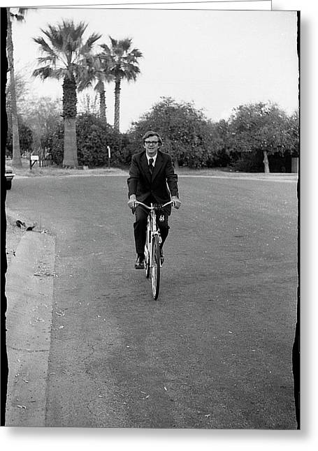 Lawyer On A Bicycle, 1971 Greeting Card