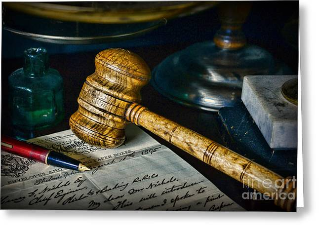 Lawyer The Ruling Greeting Card by Paul Ward