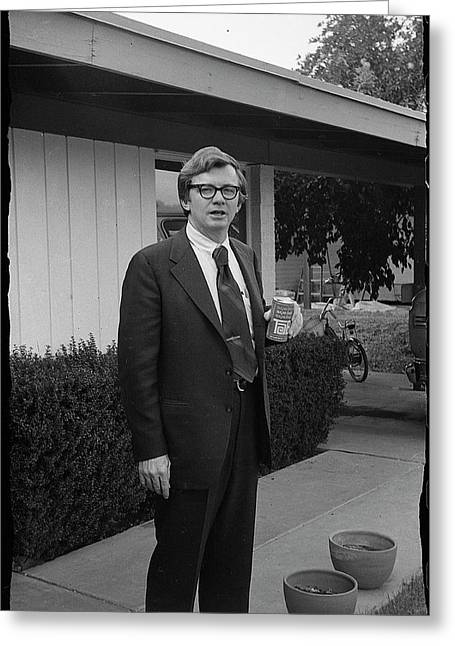 Lawyer With Can Of Tab, 1971 Greeting Card