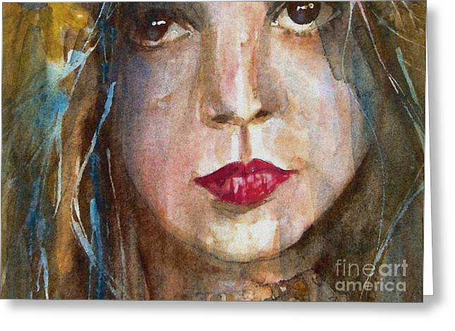 Lay Lady Lay Greeting Card by Paul Lovering