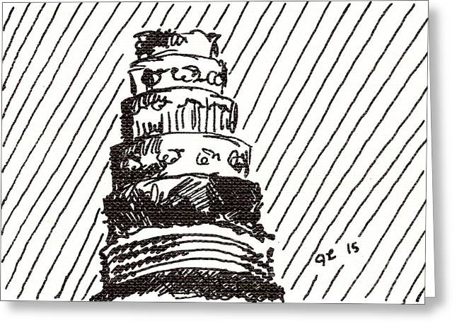 Layer Cake 1 2015 - Aceo Greeting Card