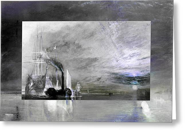 Greeting Card featuring the digital art Layered 11 Turner by David Bridburg