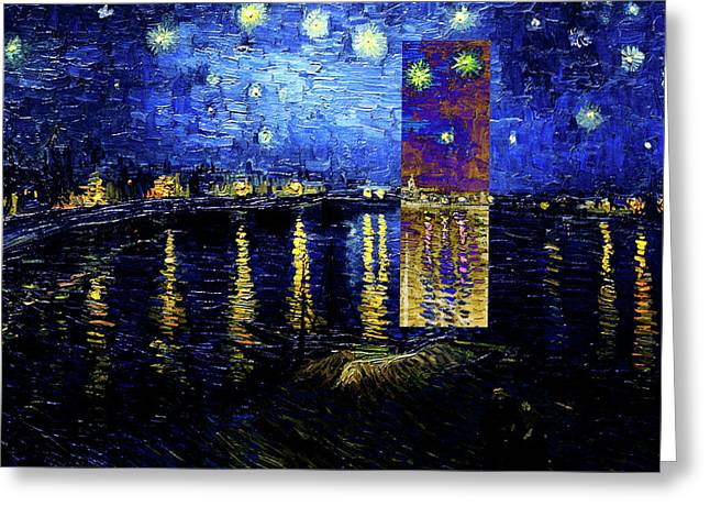 Layered 15 Van Gogh Greeting Card