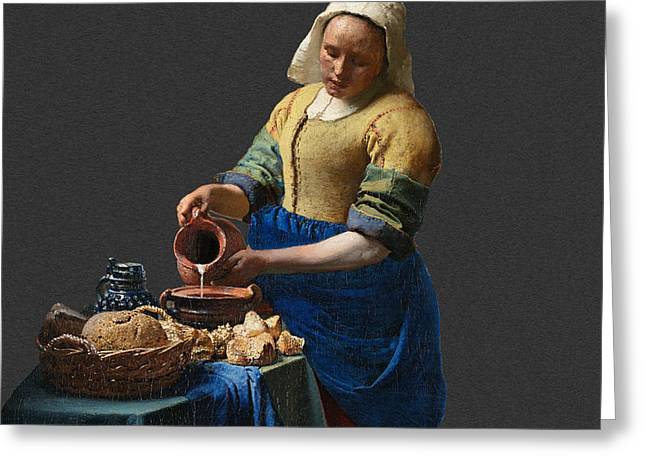 Layered 16 Vermeer Greeting Card by David Bridburg