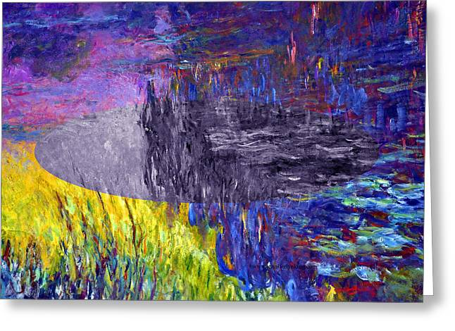 Layered 17 Monet Greeting Card by David Bridburg