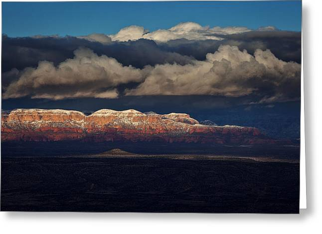 Greeting Card featuring the photograph Layered Light by Ron Chilston