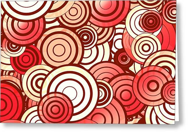 Layered Random Circles Greeting Card by Gaspar Avila