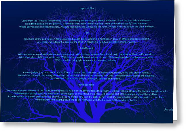 Layers Of Blue Greeting Card