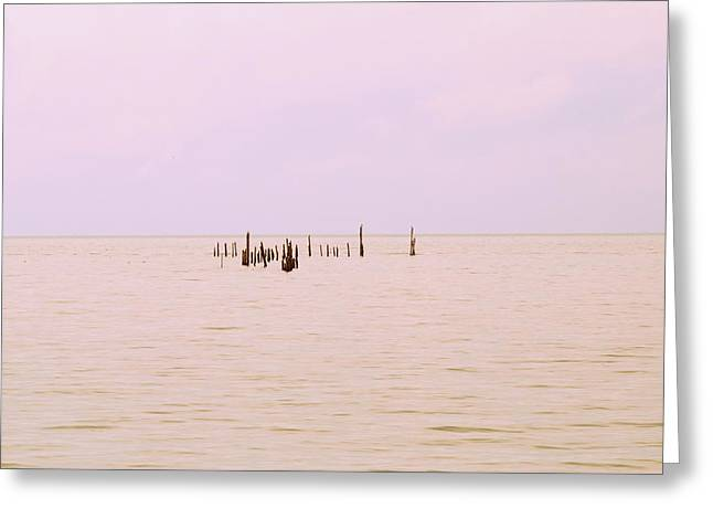 Greeting Card featuring the photograph Layers Of Calm by Deborah  Crew-Johnson