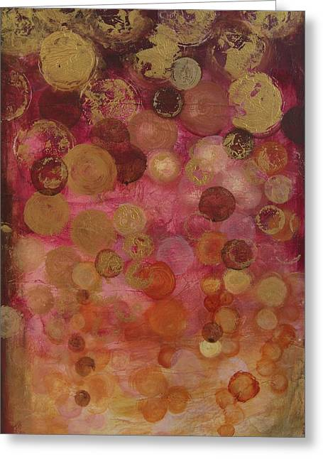 Layers Of Circles On Red Greeting Card