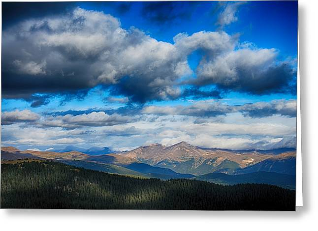 Layers Of Clouds On Mount Evans Greeting Card